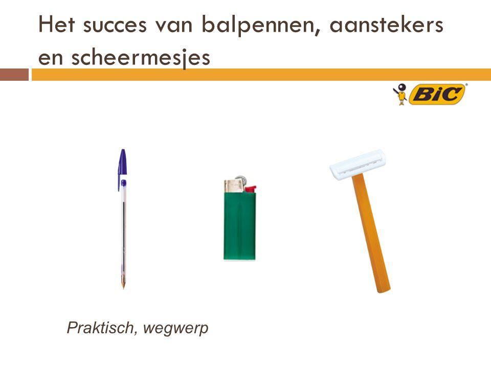Het succes van balpennen, aanstekers en scheermesjes