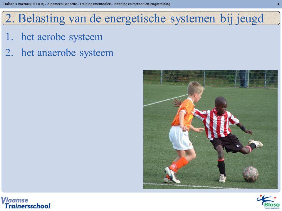 2. Belasting van de energetische systemen bij jeugd