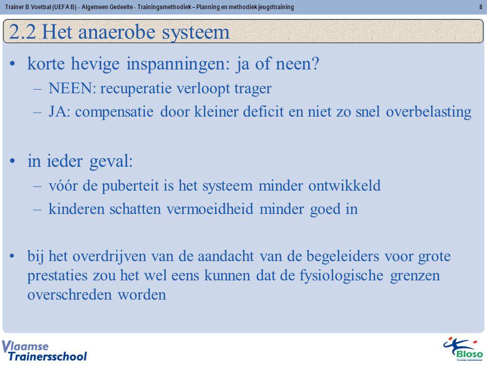 2.2 Het anaerobe systeem korte hevige inspanningen: ja of neen