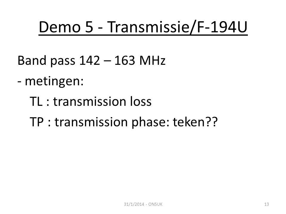 Demo 5 - Transmissie/F-194U