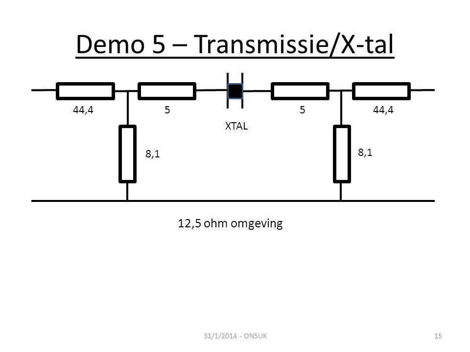 Demo 5 – Transmissie/X-tal