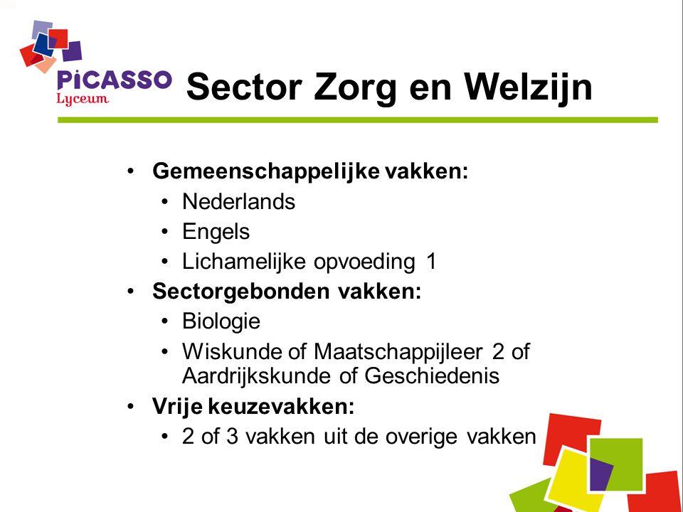Sector Zorg en Welzijn Gemeenschappelijke vakken: Nederlands Engels