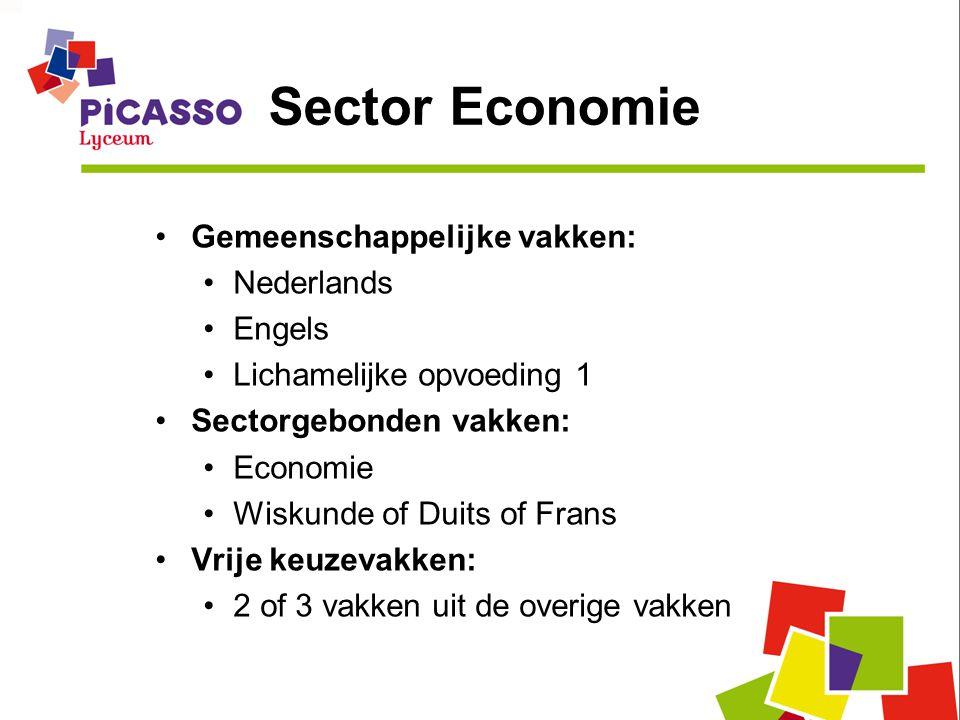 Sector Economie Gemeenschappelijke vakken: Nederlands Engels