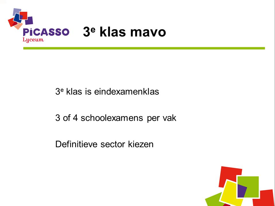 3e klas mavo 3e klas is eindexamenklas 3 of 4 schoolexamens per vak