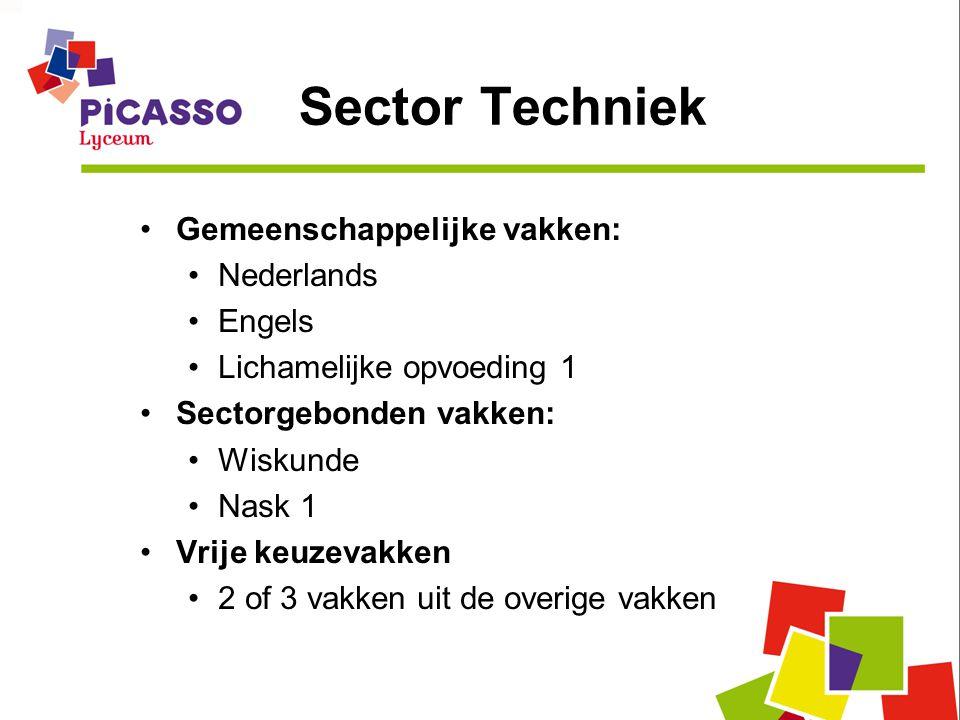 Sector Techniek Gemeenschappelijke vakken: Nederlands Engels