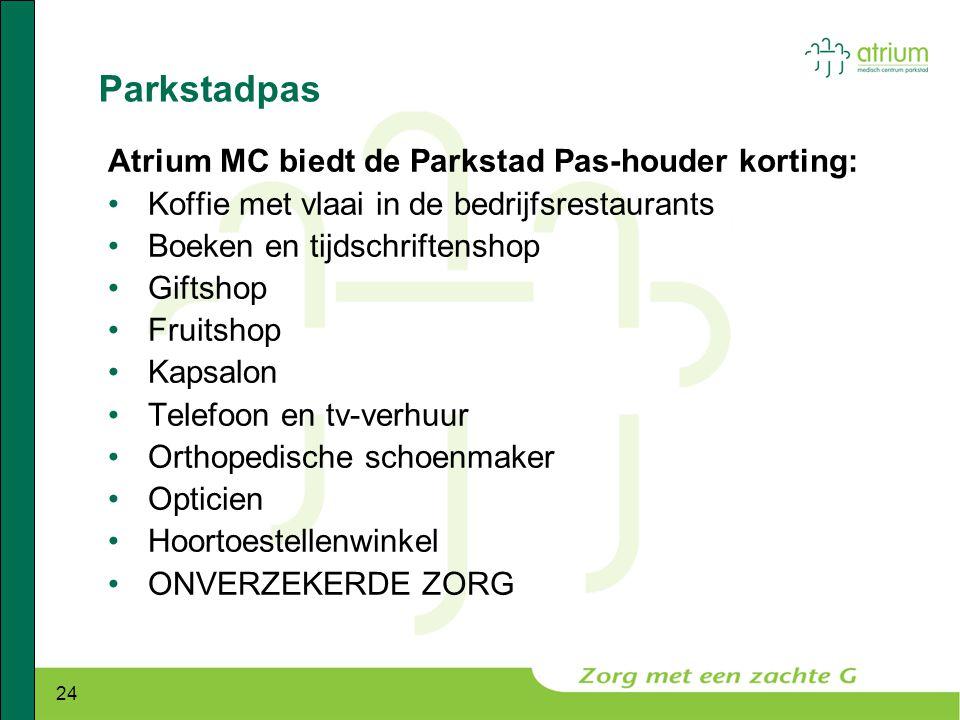 Parkstadpas Atrium MC biedt de Parkstad Pas-houder korting: