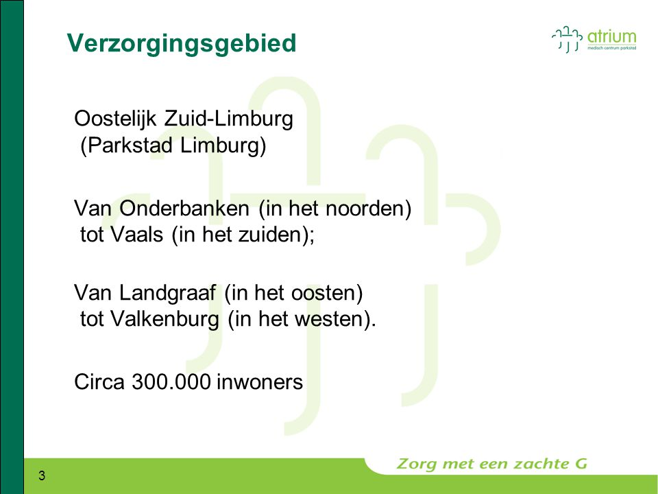 Verzorgingsgebied Oostelijk Zuid-Limburg (Parkstad Limburg)