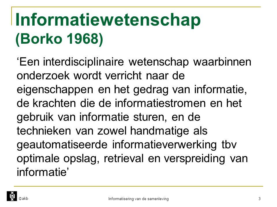 Informatiewetenschap (Borko 1968)
