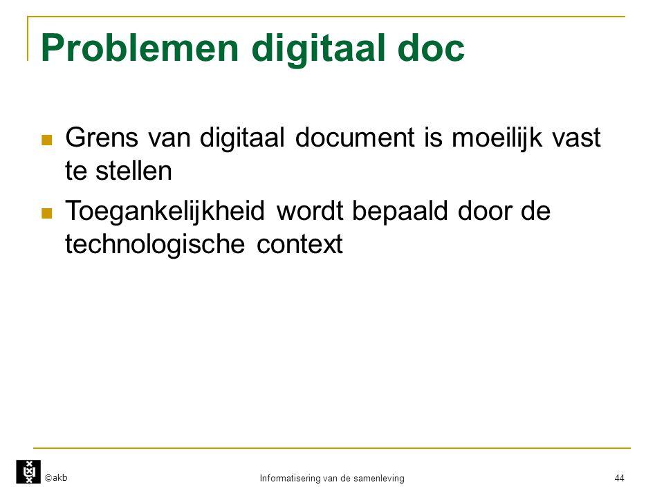 Problemen digitaal doc