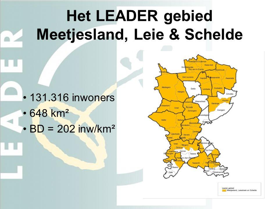 Het LEADER gebied Meetjesland, Leie & Schelde