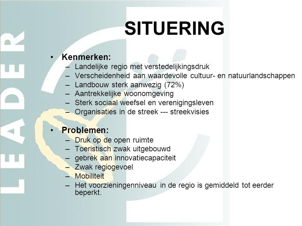 SITUERING Kenmerken: Problemen: