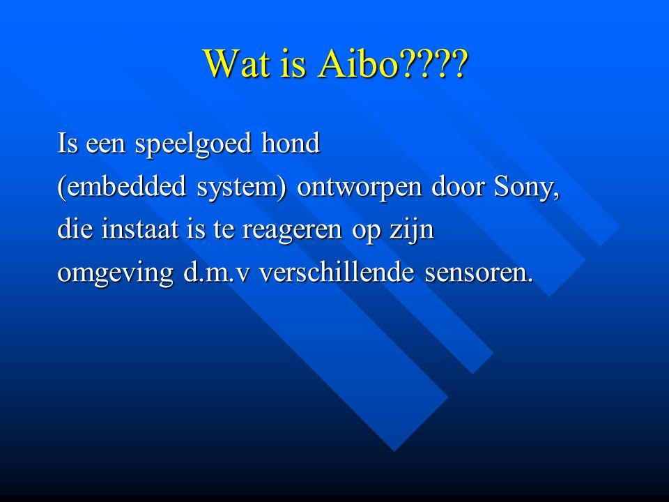 Wat is Aibo Is een speelgoed hond