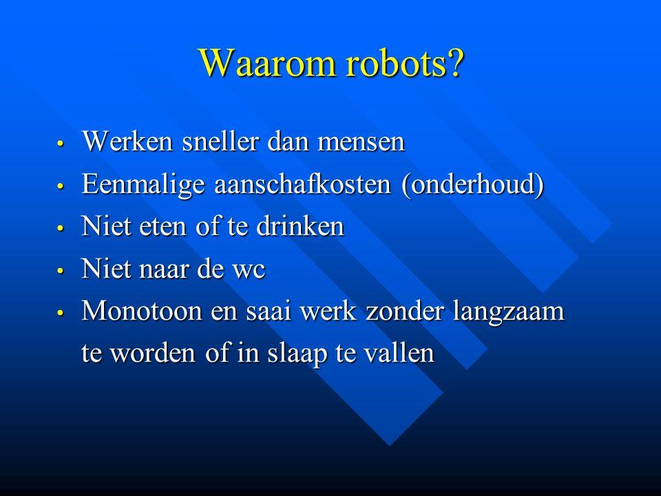 Waarom robots Werken sneller dan mensen