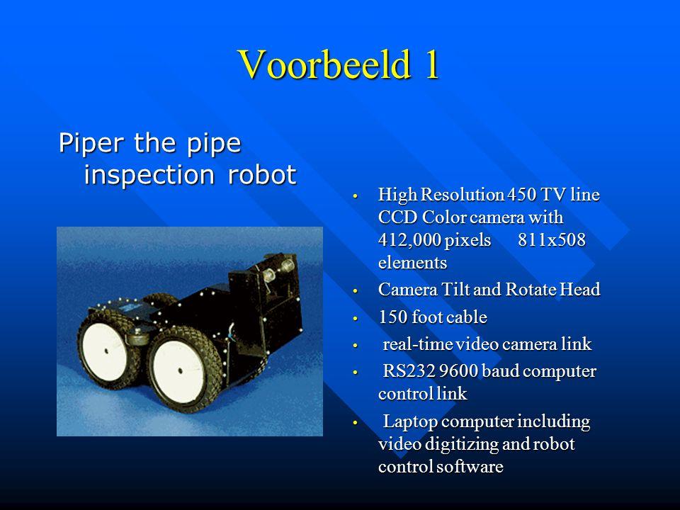 Voorbeeld 1 Piper the pipe inspection robot