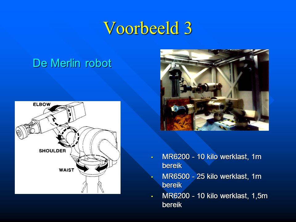 Voorbeeld 3 De Merlin robot MR6200 - 10 kilo werklast, 1m bereik
