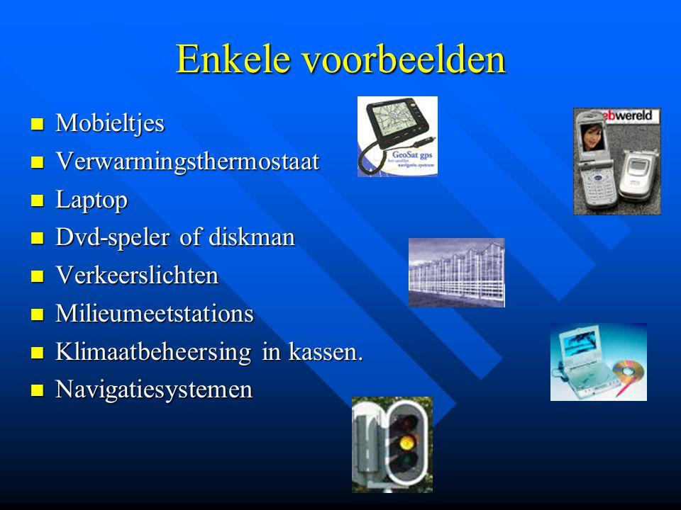 Enkele voorbeelden Mobieltjes Verwarmingsthermostaat Laptop