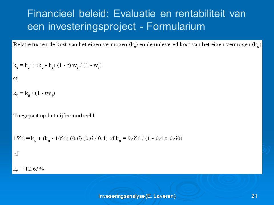 Inveseringsanalyse (E. Laveren)