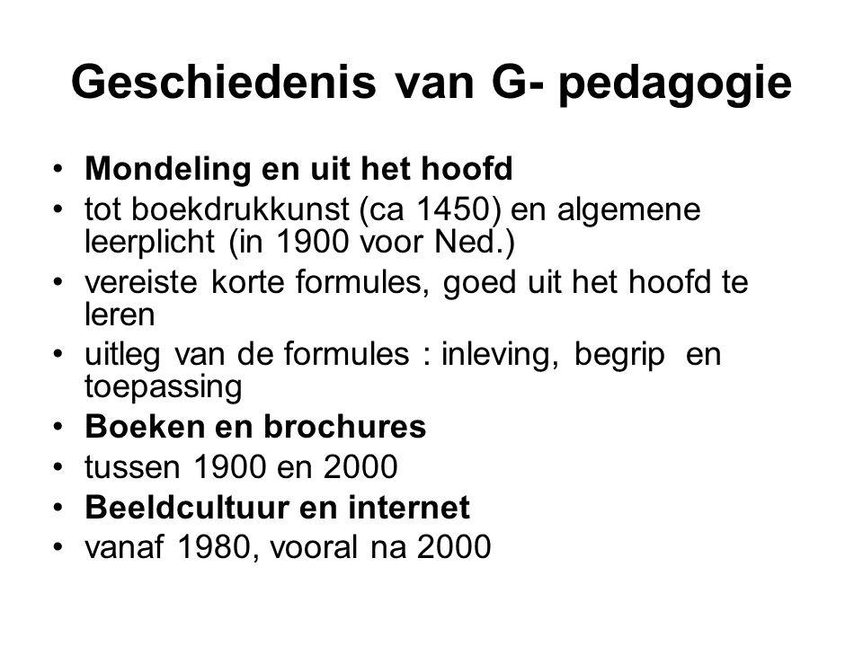 Geschiedenis van G- pedagogie