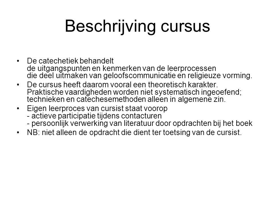 Beschrijving cursus