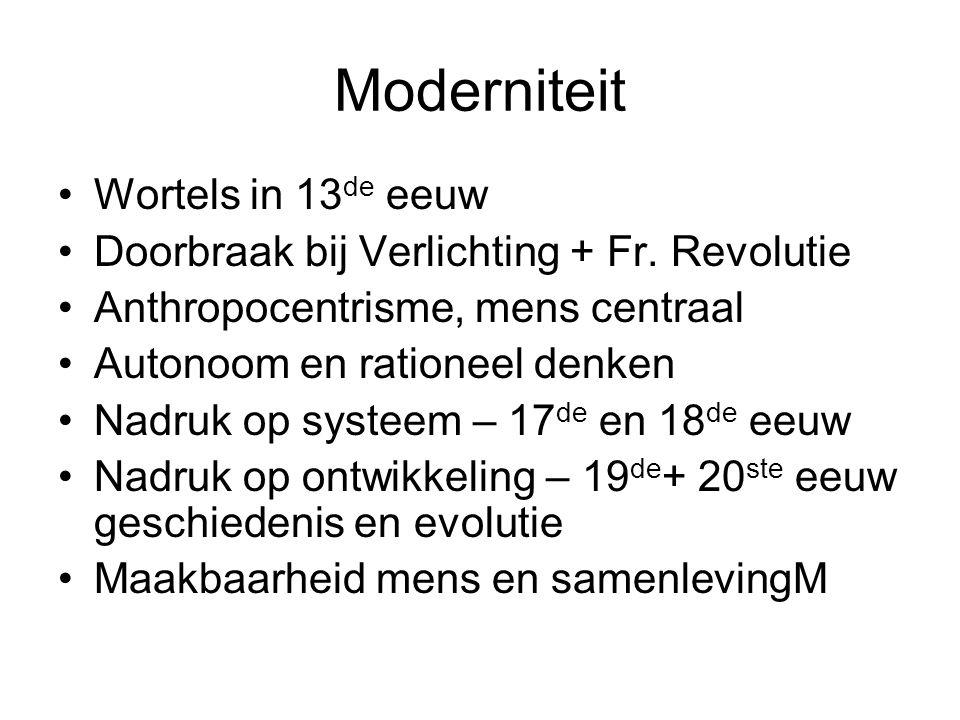 Moderniteit Wortels in 13de eeuw