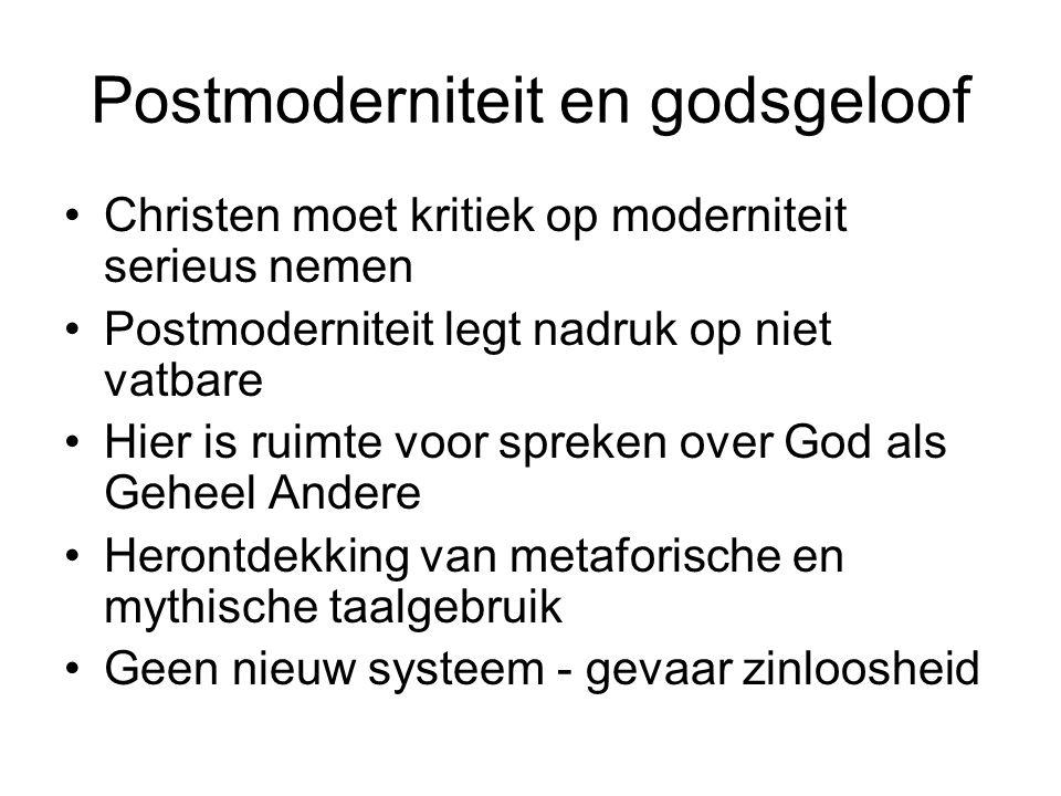 Postmoderniteit en godsgeloof