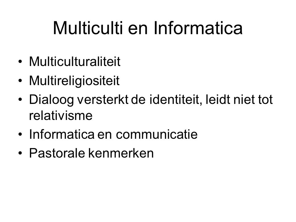 Multiculti en Informatica