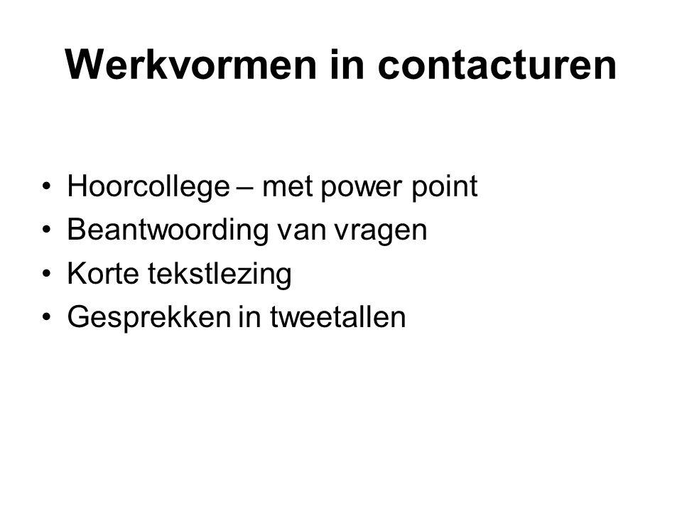 Werkvormen in contacturen