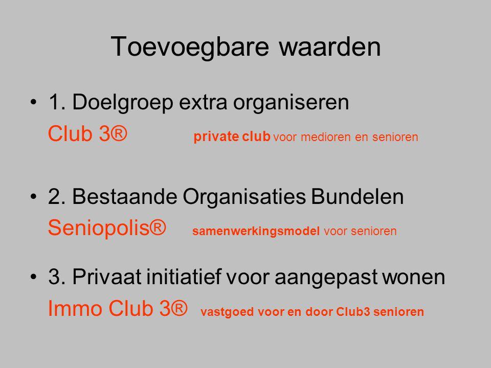 Toevoegbare waarden 1. Doelgroep extra organiseren