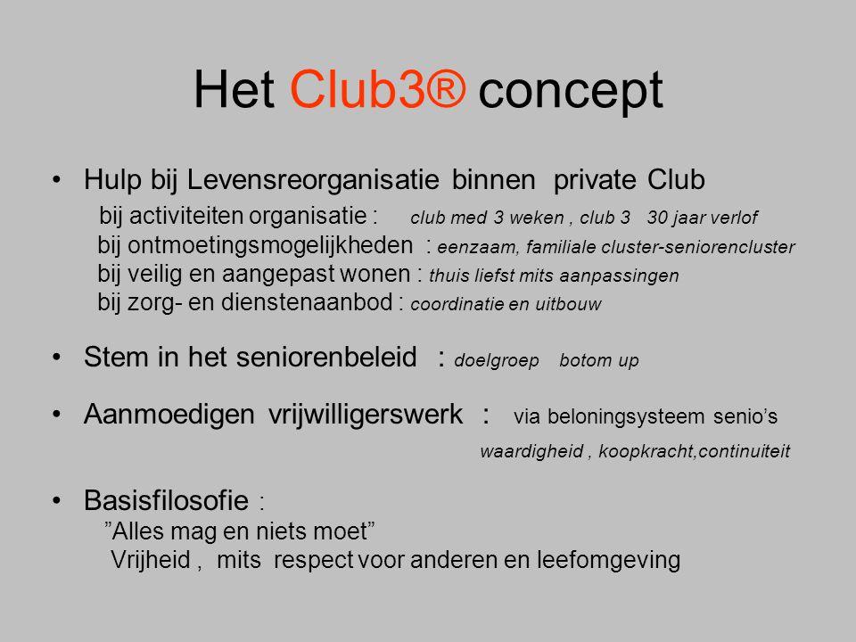 Het Club3® concept Hulp bij Levensreorganisatie binnen private Club