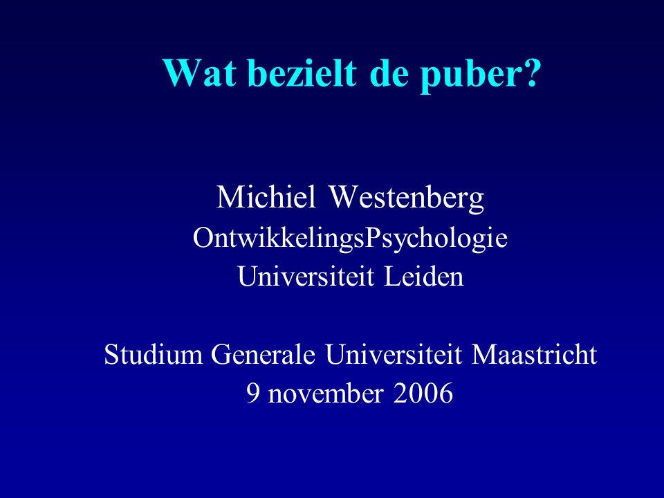 Wat bezielt de puber Michiel Westenberg OntwikkelingsPsychologie