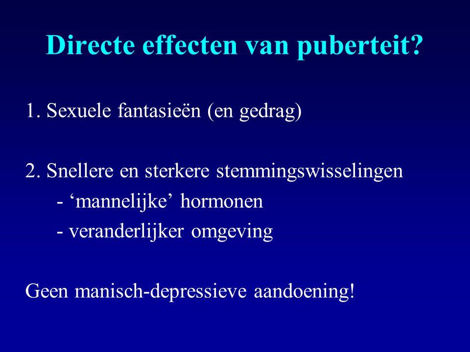 Directe effecten van puberteit
