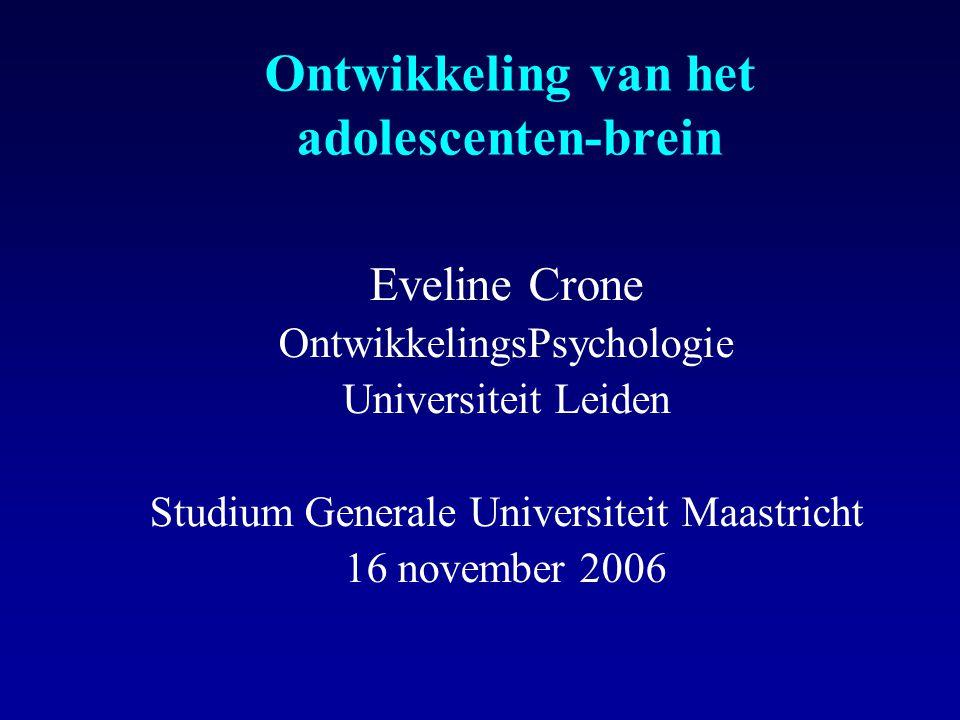 Ontwikkeling van het adolescenten-brein