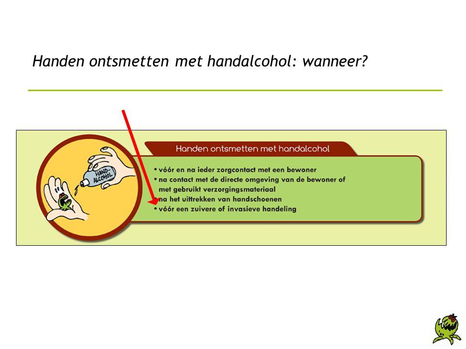Handen ontsmetten met handalcohol: wanneer