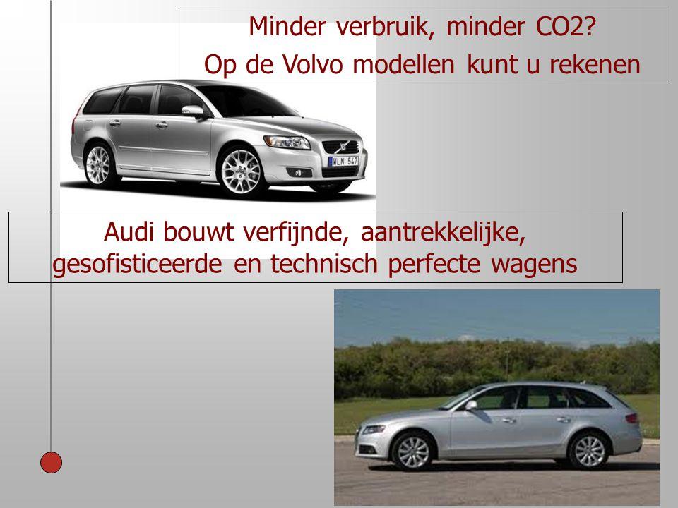 Minder verbruik, minder CO2 Op de Volvo modellen kunt u rekenen