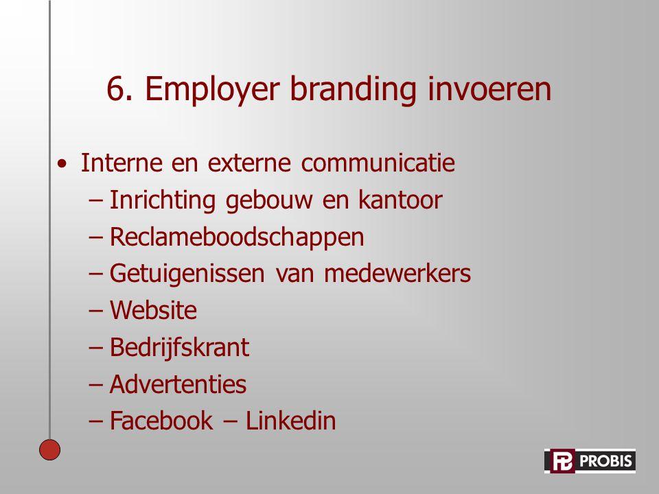 6. Employer branding invoeren