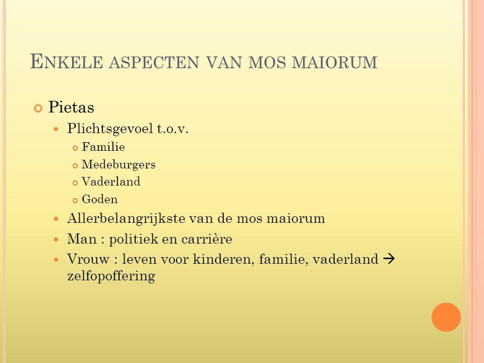 Enkele aspecten van mos maiorum