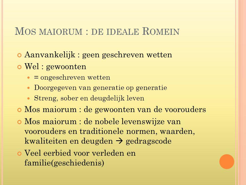 Mos maiorum : de ideale Romein