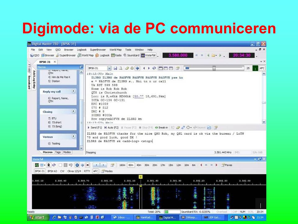 Digimode: via de PC communiceren
