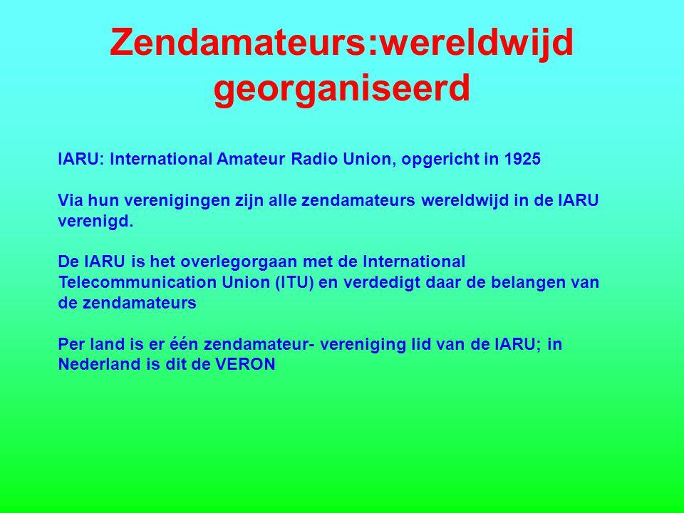 Zendamateurs:wereldwijd georganiseerd