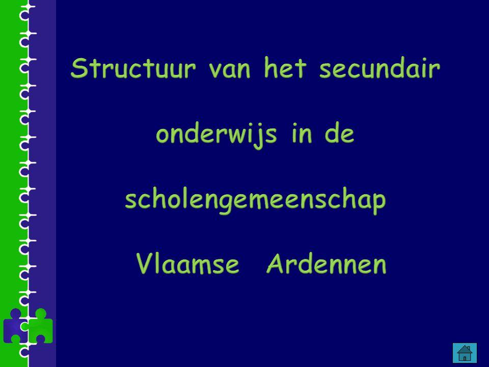 Structuur van het secundair onderwijs in de scholengemeenschap Vlaamse Ardennen