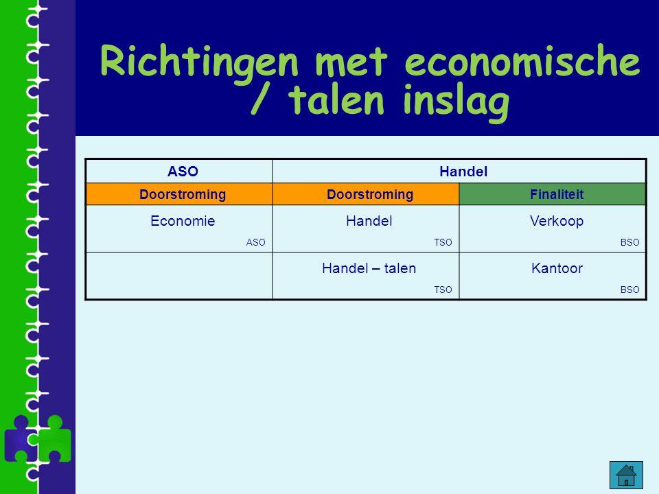 Richtingen met economische / talen inslag