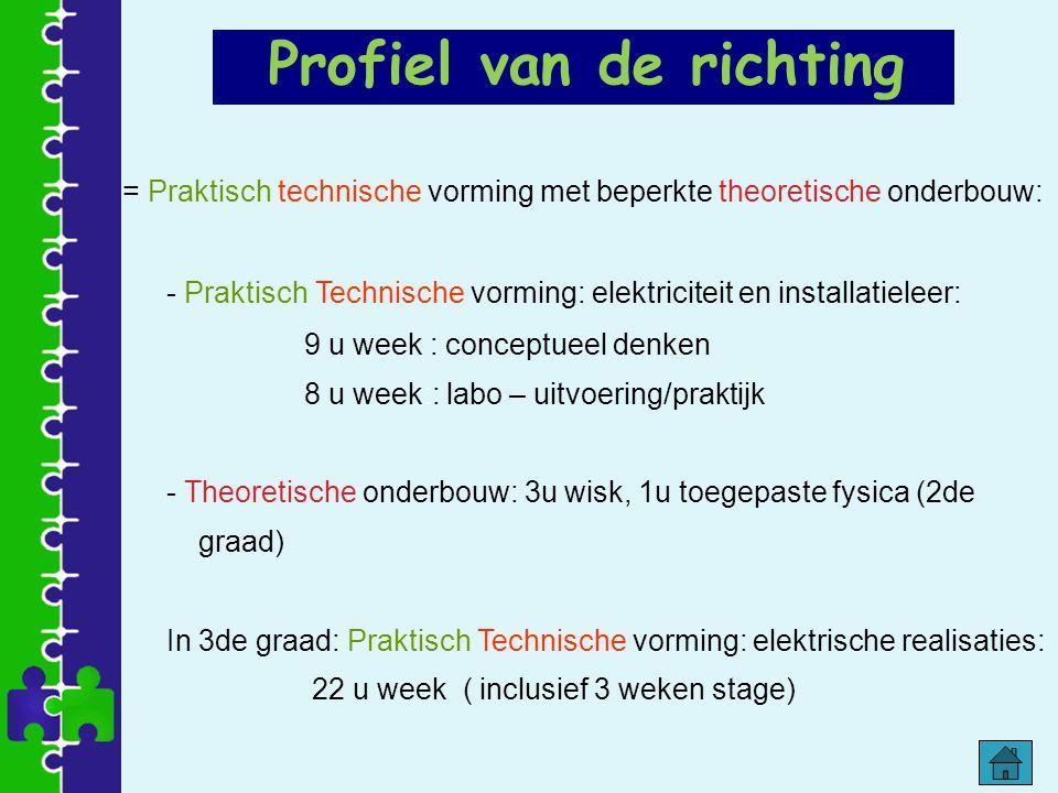= Praktisch technische vorming met beperkte theoretische onderbouw: