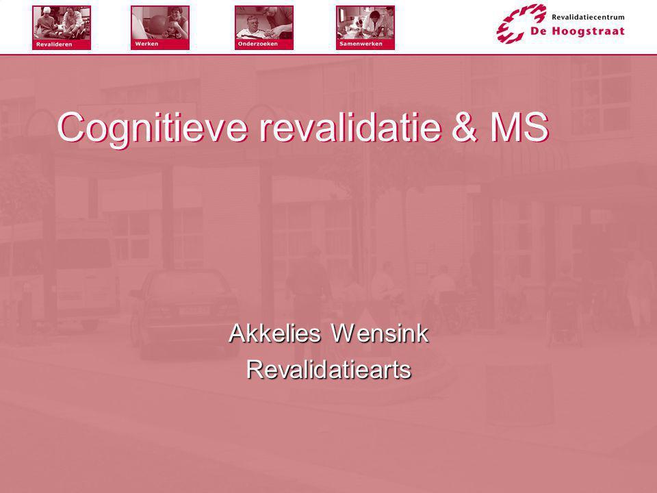 Cognitieve revalidatie & MS