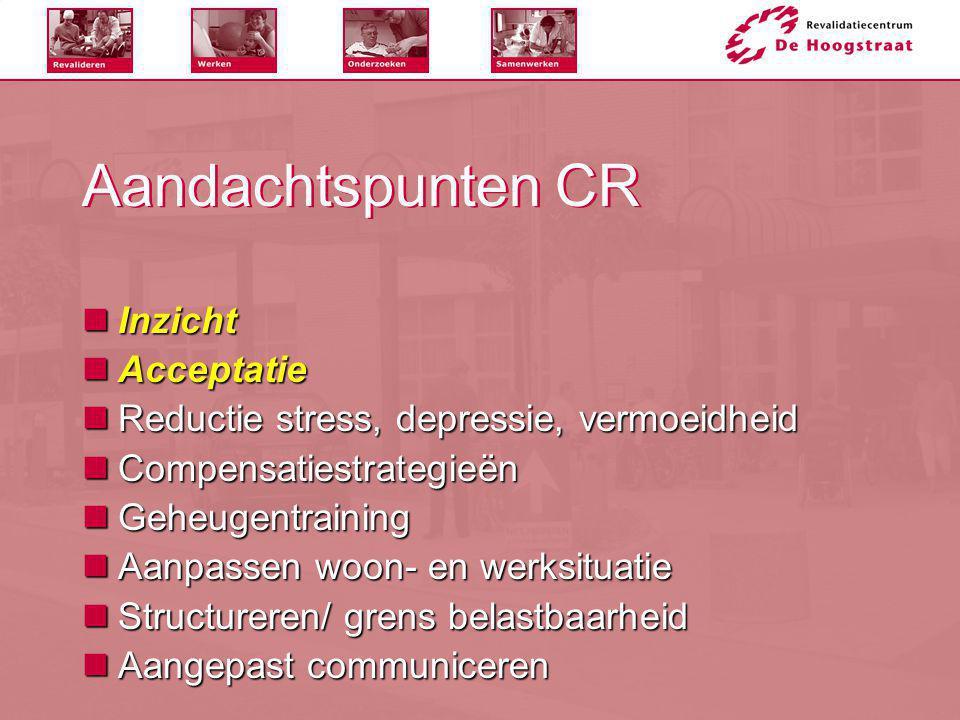 Aandachtspunten CR Inzicht Acceptatie
