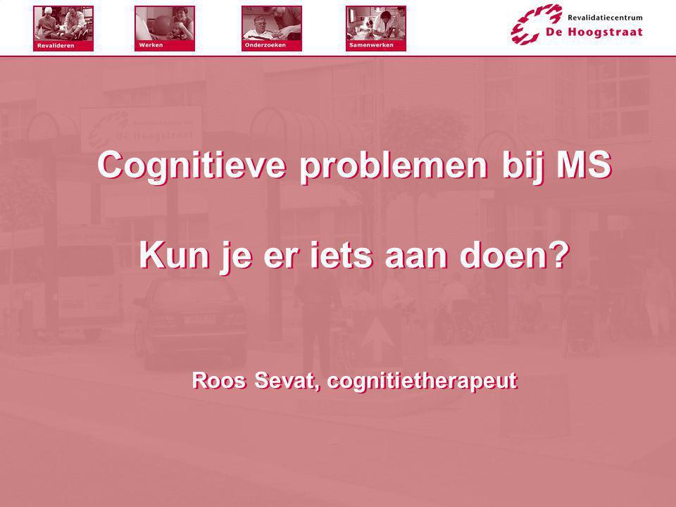 Cognitieve problemen bij MS Kun je er iets aan doen