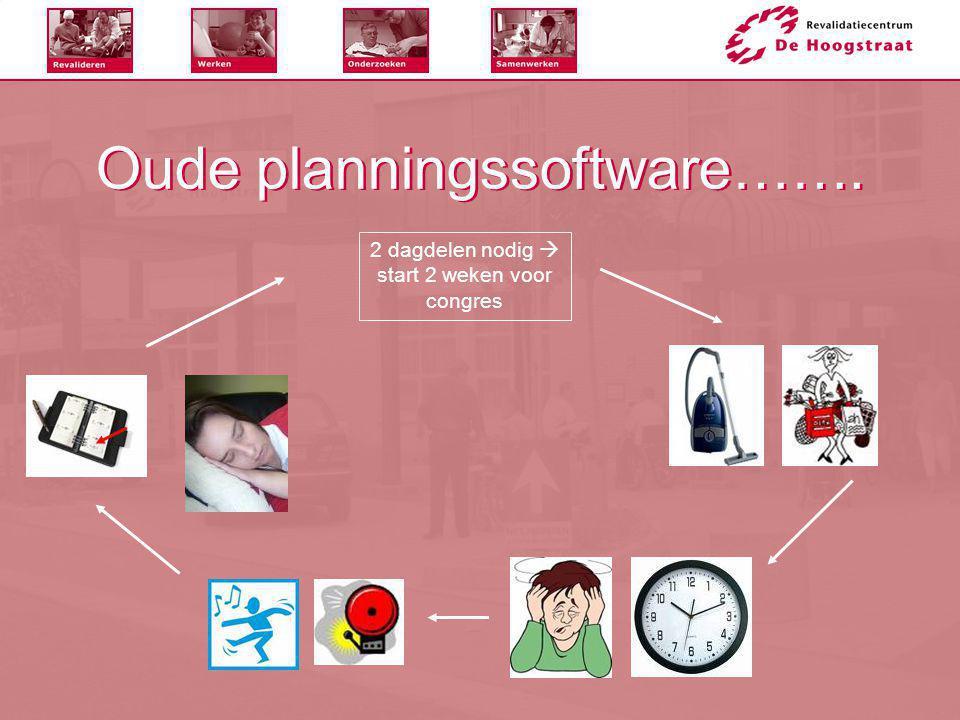 Oude planningssoftware…….