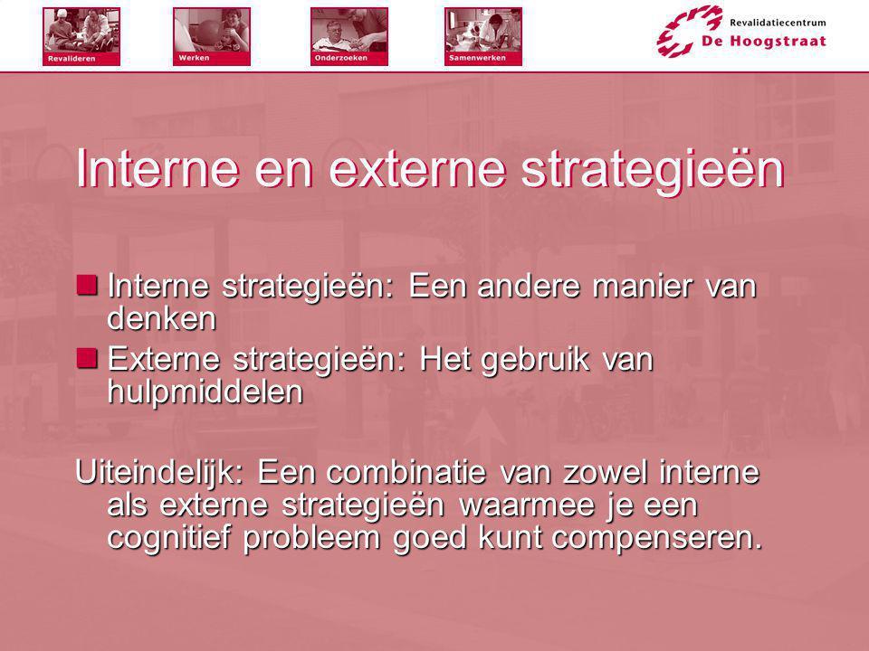 Interne en externe strategieën