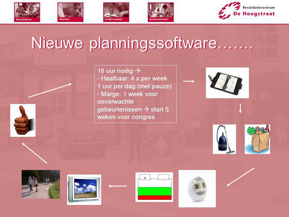 Nieuwe planningssoftware…….