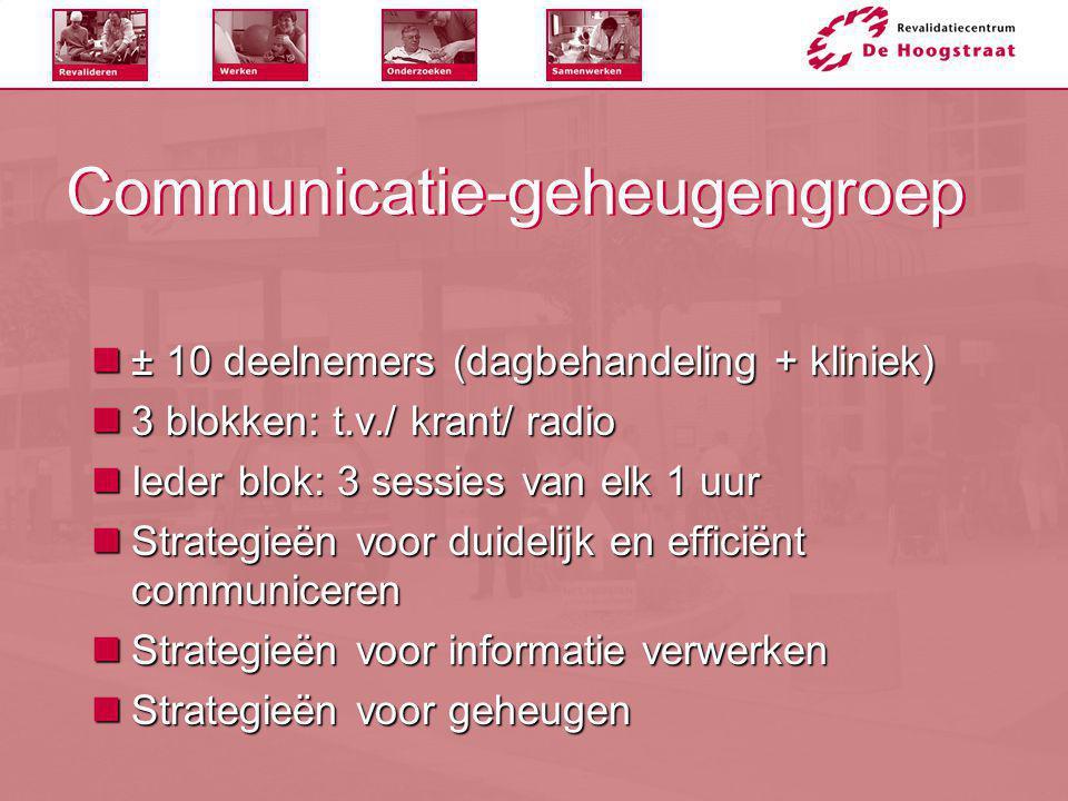 Communicatie-geheugengroep