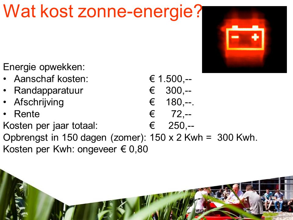 Wat kost zonne-energie